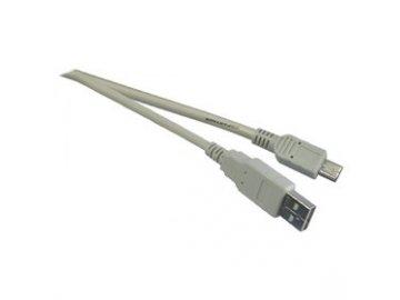 Kabel vidlice USB - vidlice mini USB .