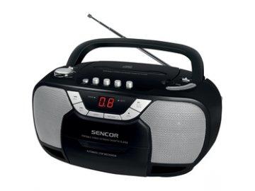 Radiomagnetofon s CD Sencor SPT 207 kazetová mechanika