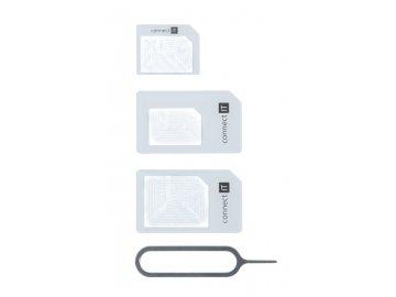 Redukce /adaptér/ SIM karty 4v1 z nanoSIM na microSIM a miniSIM