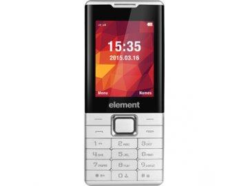 Mobilní telefon Element P020 Silver Dual SIM fotoaparát mikroSD  DOPRAVA ZDARMA
