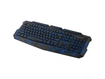 Herní podsvícená klávesnice Yenkee Ambush YKB 3100  tři barvy podsvícení