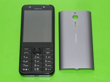 Tlačítkový mobil Nokia 230 Dual Sim DARK SILVER 2x fotoaparát kovový zadní kryt