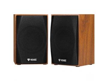 Dřevěné stereo reproduktory Yenkee YSP 2010BN USB 2.0