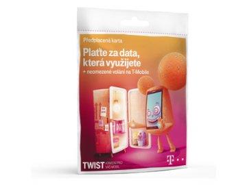 SIM karta s kreditem T-Mobile TWIST 200,- Kč kredit Neomezené volání v síti