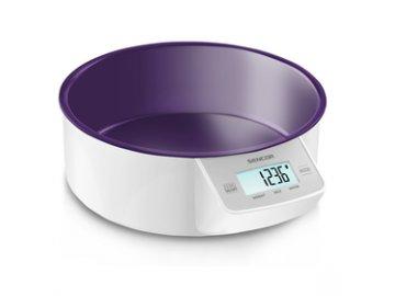 Kuchyňská váha Sencor SKS 4004VT fialová s miskou