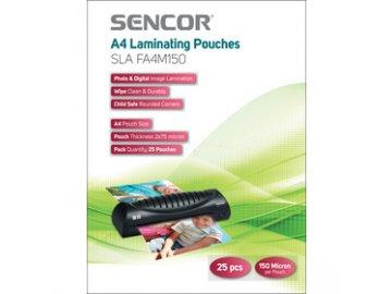 Laminovací fólie Sencor SLA FA4M150 A4 150mic 25 ks