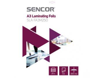 Laminovací fólie Sencor SLA FA3M250 A3 125mic 25 ks