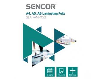 Laminovací fólie Sencor SLA FAMM150 A456 150mic 3x25 ks