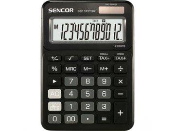 Stolní kalkulačka Sencor SEC 372T/BK pro prodejny, kanceláře