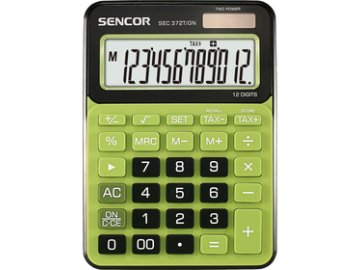 Stolní kalkulačka Sencor SEC 372T/GN pro prodejny, kanceláře