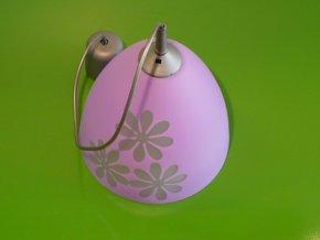 Lustr skleněný fialový s květy prům. 23cm