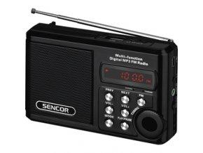 Rádio Sencor SRD 215 B s USB/MP3 a SD kartou