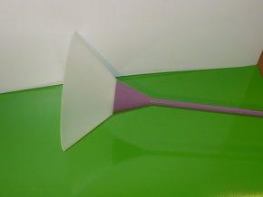 Lampa stojanová fialová s bílým stínítkem