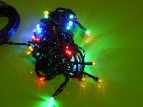 Vánoční řetěz 40 LED 4m barevný IP 44 ZY0811