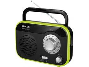 Radiopřijímač Sencor SRD 210 BGN zelený