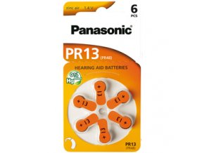Baterie pro naslouchadla Panasonic PR13 /PR48V/ Varta Auditas 13 PR48