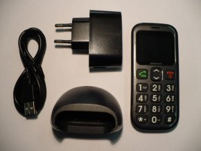 Mobil Sencor Element P001S DUAL SIM Senior velká tlačítka, jednoduchý pro seniory