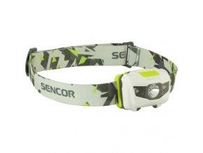 Svítilna čelovka Sencor SLL 55 WHITE 3W+2R 3XAAA