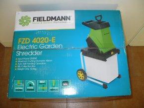 Elektrický zahradní drtič /štěpkovač/ Fieldmann FZD 4020-E 2500W + ZDARMA nůžky FZNR 1001  DOPRAVA ZDARMA