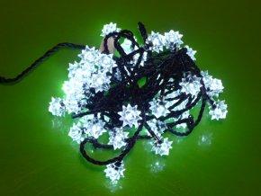 Vánoční osvětlení vločky 40 LED 4m studená bílá IP44 ZY1203