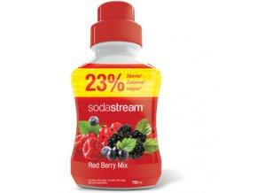 Sirup Sodastream Red Berry Mix Lesní plody 750ml velký 18 litrů nápoje .