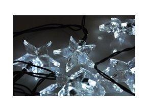 Vánoční osvětlení - řetězy 20 LED hvězdy bílá 3m Solight 1V30-W