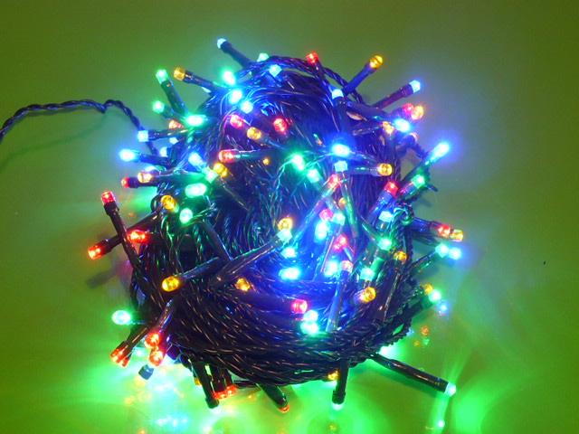 Vánoční osvětlení 180 LED 18m IP 44 barevná color ZY0814