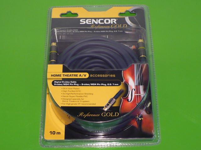 S - video kabel MM 24 karátů Sencor 15m SAV 141-150 .