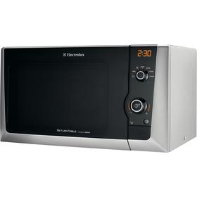 Digitální mikrovlnná trouba Electrolux EMS 21400 s grilem stříbrná 21 litrů 800W Returntable