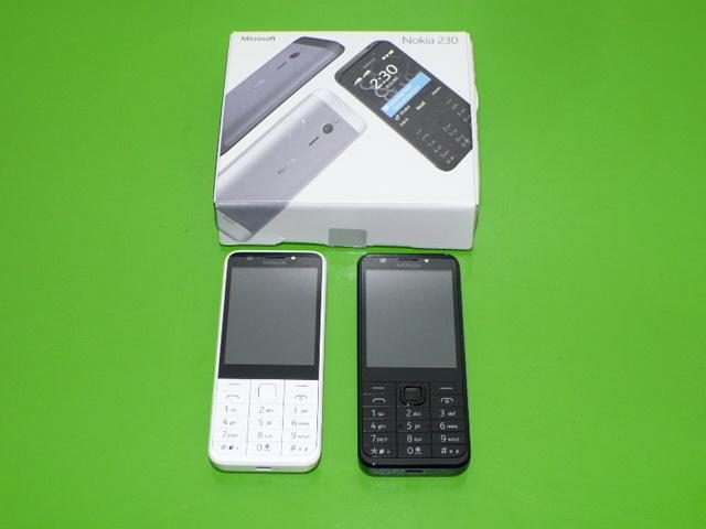 Tlačítkový mobil Nokia 230 Dual Sim bílý 2x fotoaparát kovový zadní kryt DOPRAVA ZDARMA