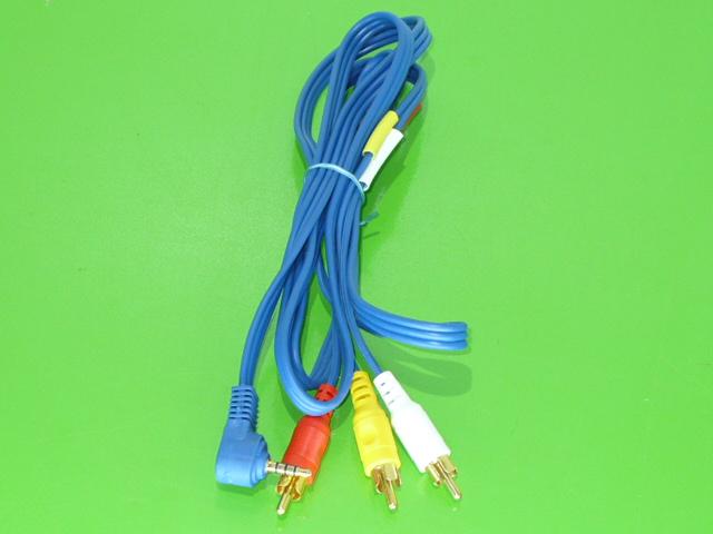Propojovací kabel čtyřpoziční Jack 3,5/4C - 3x Cinch /videokamera - TV/