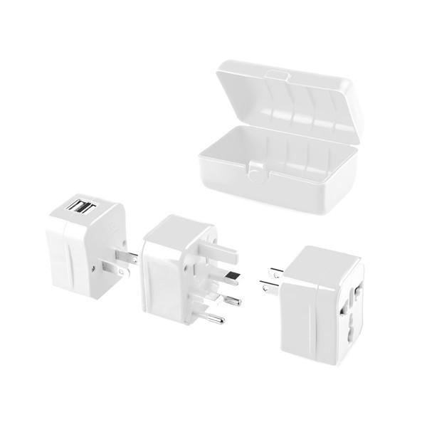 Univerzální cestovní adaptér do zahraničí pro 150 zemí GoGEN s USB  DOPRAVA ZDARMA
