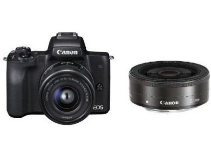 Canon EOS M50 Black+EF-M 15-45IS+EF-M 22