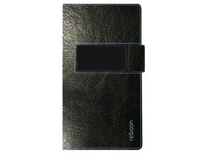 Reboon kniha XS2 černá, kůže 5047