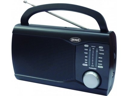 Bravo B-6009 Přenosné rádio černé
