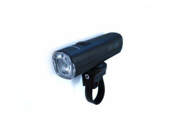 Crussis CRS 1200 přední světlo hliník, USB, powerbanka