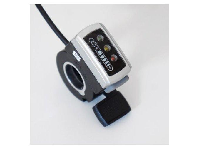 Plynová páčka s indikací baterie, 48V