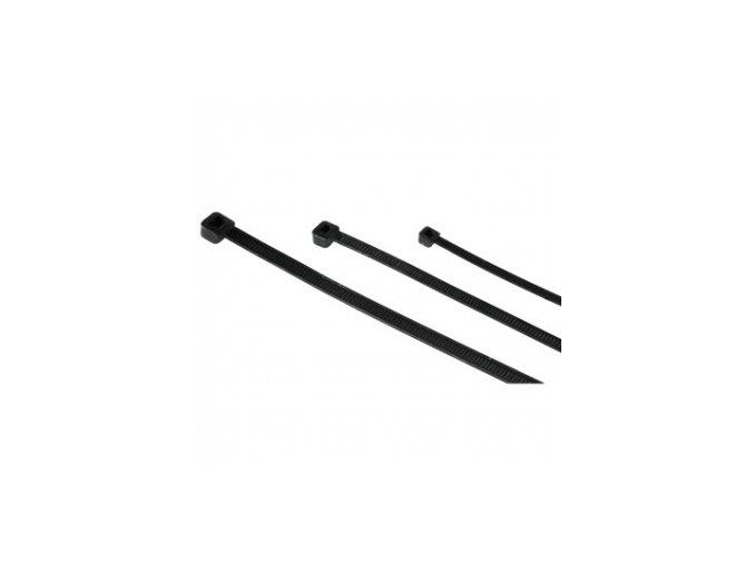 Stahovací pásky 200x2,5 - černé, UV filtr - 30ks