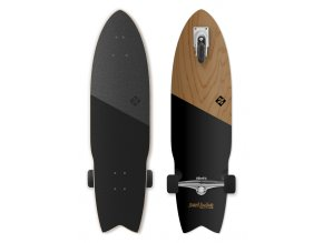 "Longboard Street Surfing SHARK ATTACK 36"" Koa Black"