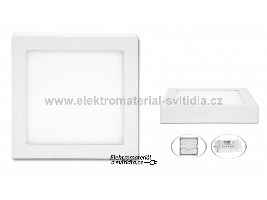 Ecolite LED CSQ-12W/4100K, 17x17cm