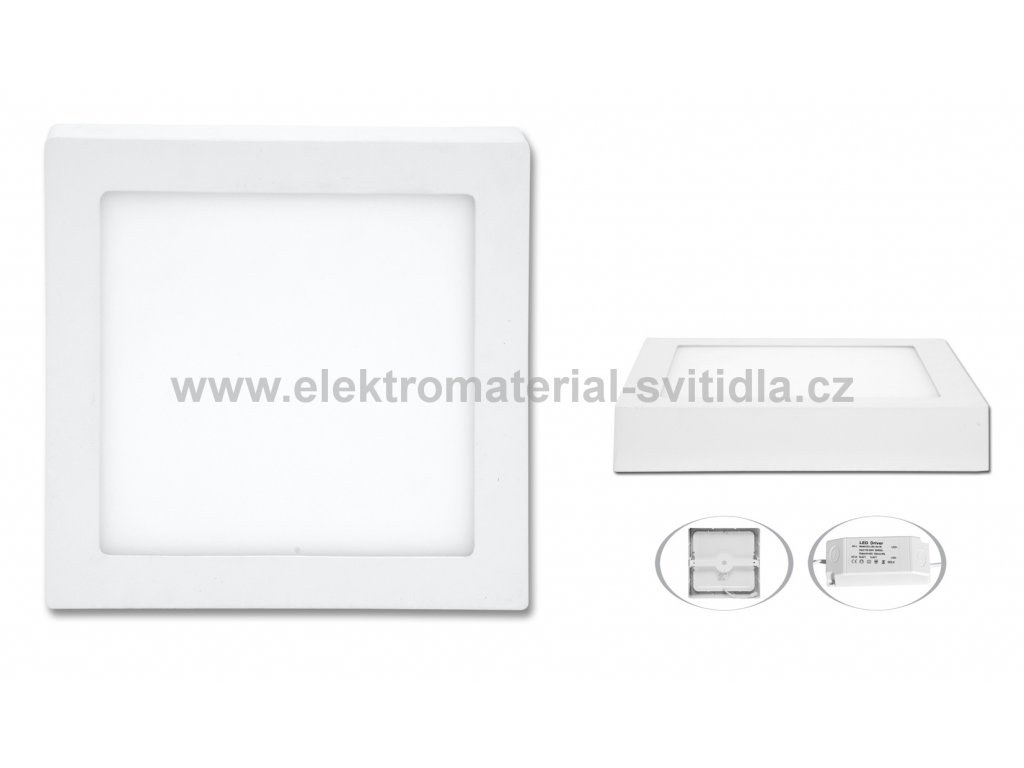 Ecolite LED CSQ-18W/4100K, 22,5x22,5cm
