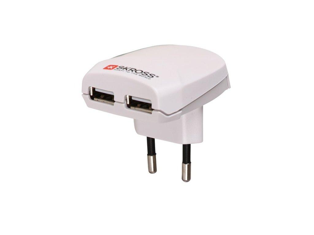 Solight SKROSS Euro USB nabíjecí adaptér, 2400mA, 2x USB výstup