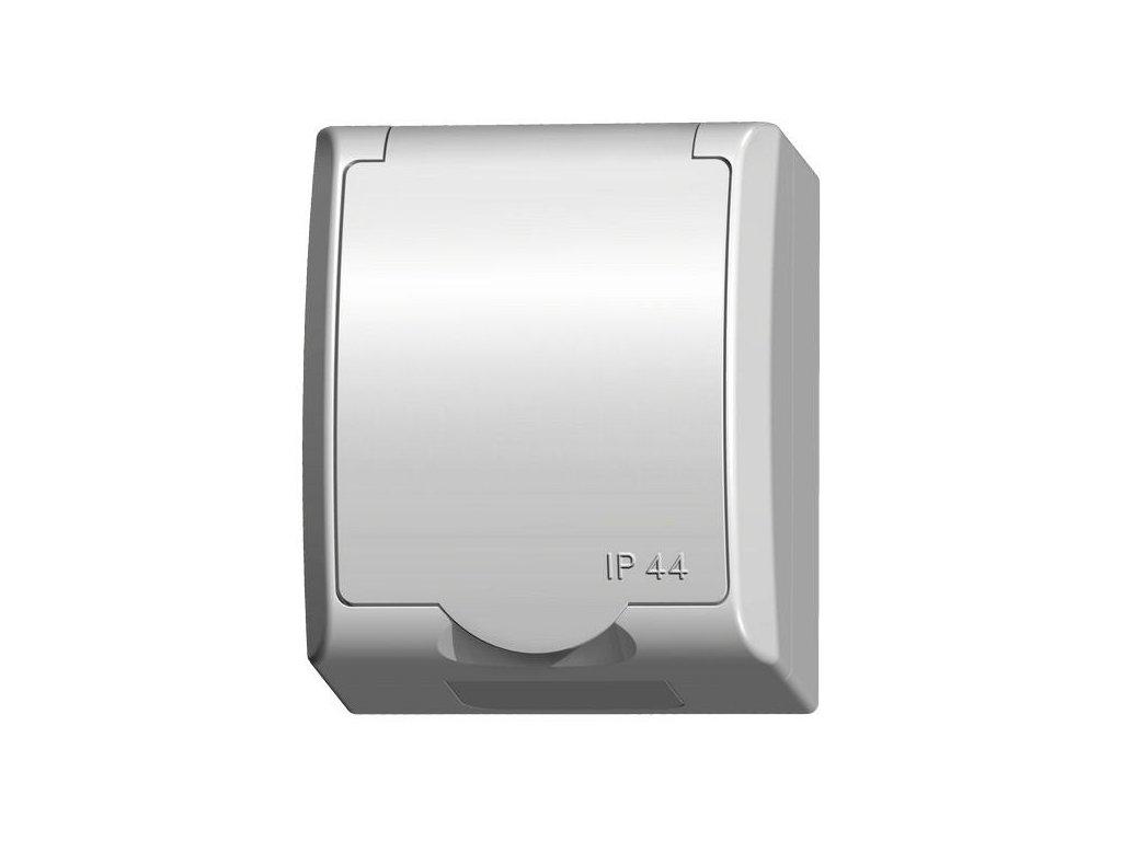 OSPEL FALA zásuvka IP44 bílá