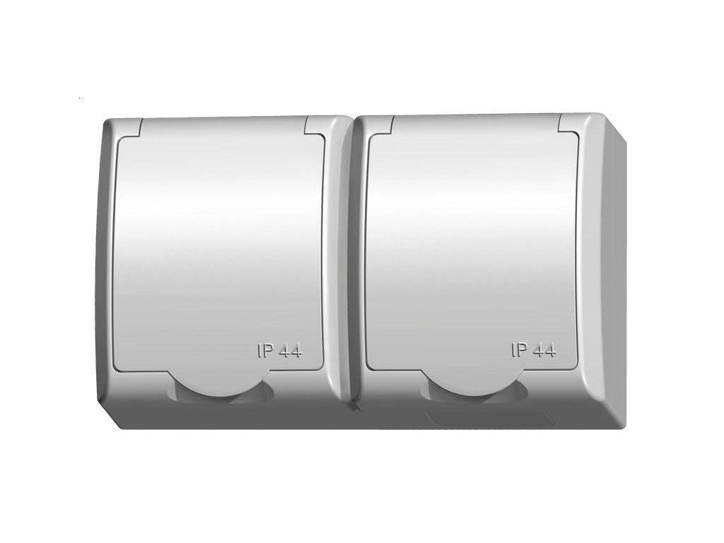 OSPEL FALA dvojzásuvka  IP44 bílá