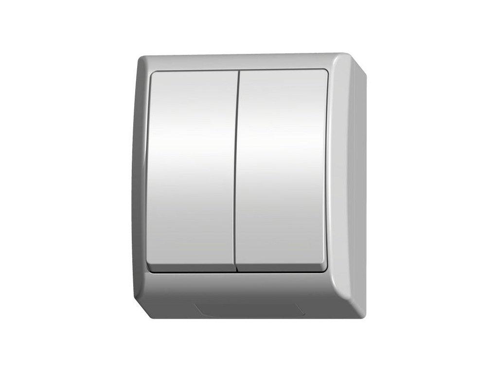 OSPEL FALA přepínač lustrový IP44 bílý
