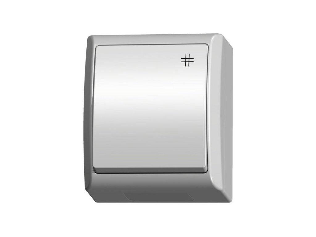 OSPEL FALA přepínač křížový IP44 bílý