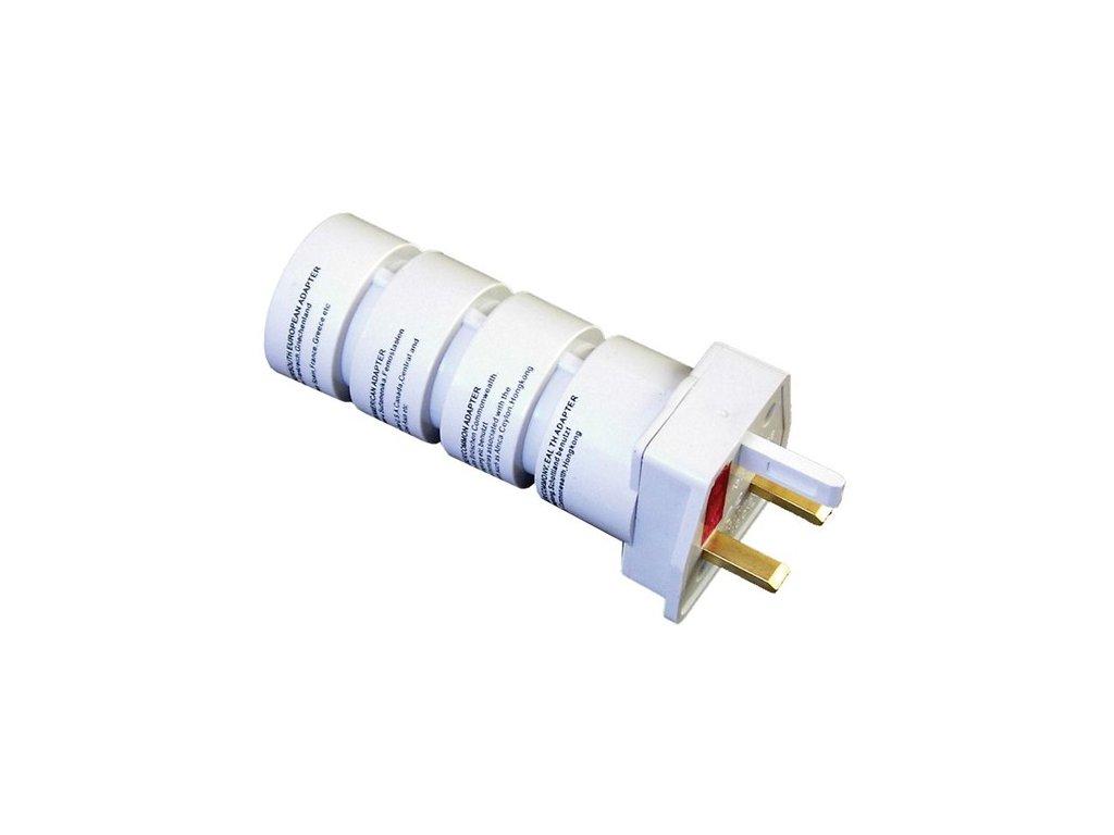 Solight PA21, cestovní adaptér, skládací, bílý