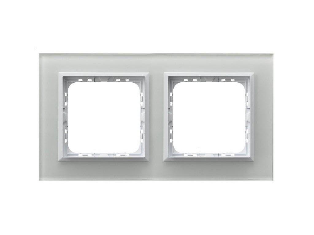OSPEL Sonáta dvojrámeček sklo bílé