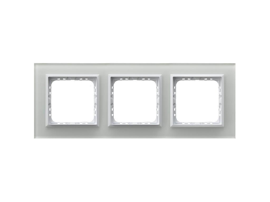 OSPEL Sonáta trojrámeček sklo bílé