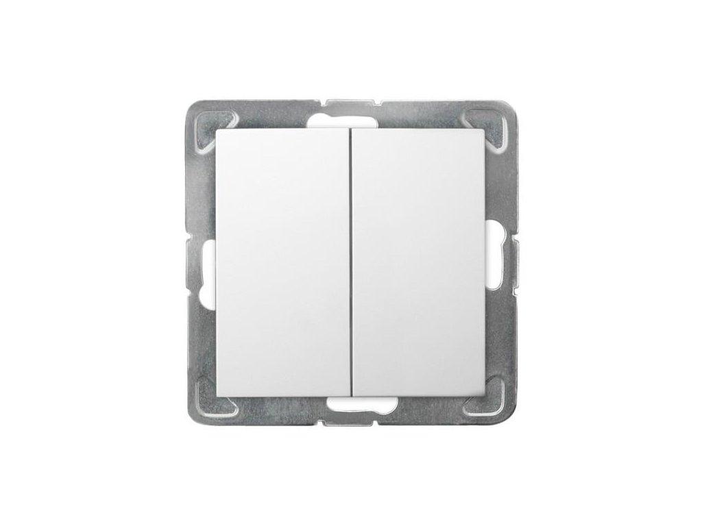 OSPEL Impresja přepínač dvojitý schodišťový bílý
